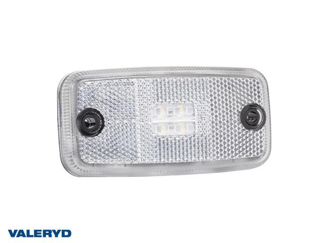 LED Positionsljus Valeryd 110x54x16 vit 12-30V med reflex inkl. 450 mm kabel