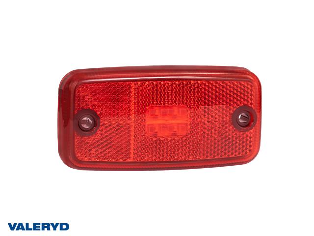 LED Positionsljus Valeryd 110x54x16 röd 12-30V med reflex inkl. 450 mm kabel