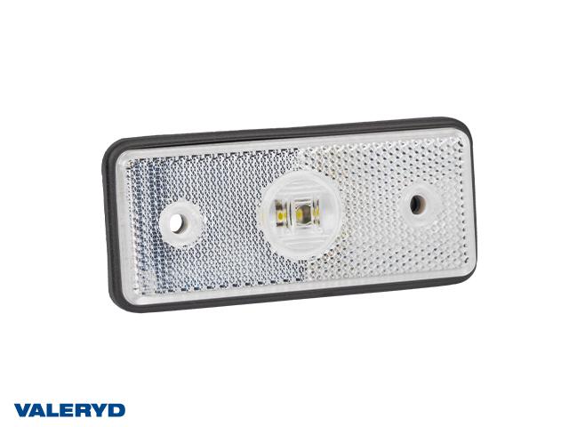 LED Positionsljus Valeryd 110x45x17,5 vit 12-30V med reflex inkl. 450 mm kabel