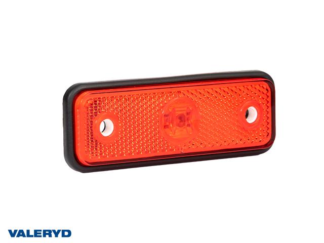 LED Positionsljus Valeryd 102x36x17 röd 12-30V med reflex inkl. 450 mm kabel