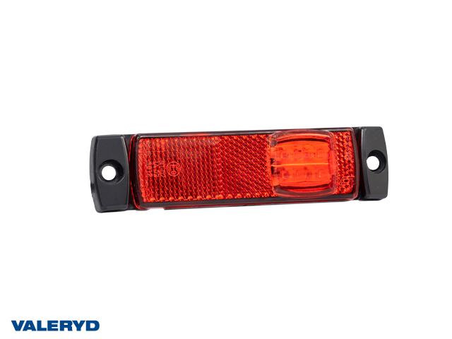 LED Positionsljus Valeryd 130x32x14,5 röd 12-30V med reflex inkl. 450 mm kabel