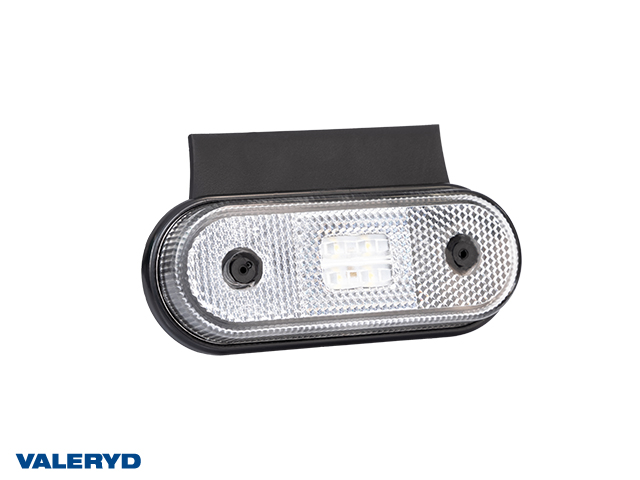 LED Position light Valeryd 120x67x18 white 12-30 V with reflector incl. 450 mm cable