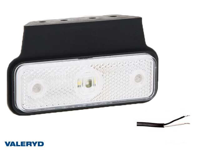 LED Positionsljus Valeryd 118x60x30 vit 12-30V inkl. 450 mm kabel