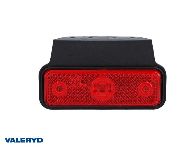 LED Positionsljus Valeryd 118x60x30 röd 12-30V inkl. 450 mm kabel