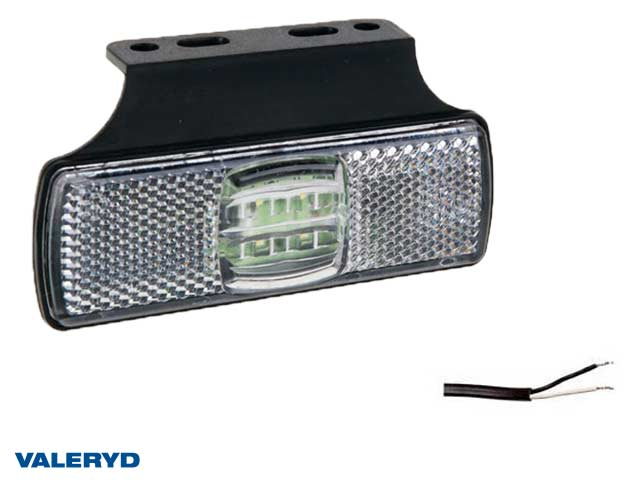 LED Positionsljus Valeryd 100x60x14.5 vit 12-30V inkl. 450 mm kabel