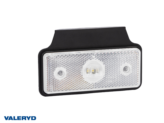 LED Positionsljus Valeryd 118x72x30 vit 12-30V inkl. 450mm kabel