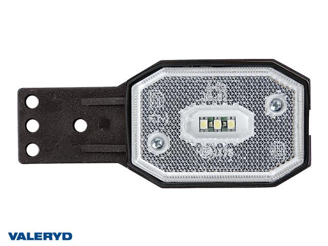 LED Positionsljus Valeryd 113x42x34 vit med fäste 12-30V inkl. 450mm kabel