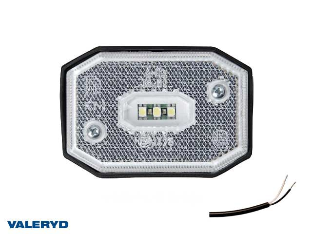 LED Positionsljus Valeryd 65x42x30 vit 12-30V inkl. 450mm kabel