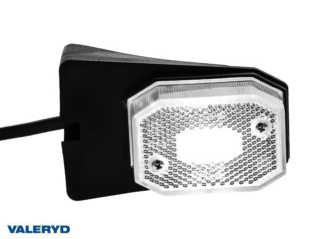 LED Positionsljus Valeryd 64x42x28 vit med fäste CC=40mm, 12-30V inkl. 450mm kabel