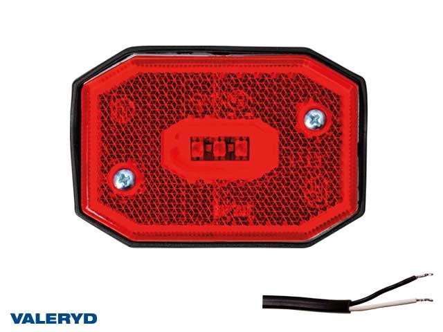 LED Positionsljus Valeryd 65x42x30 röd 12-30V inkl. 450mm kabel