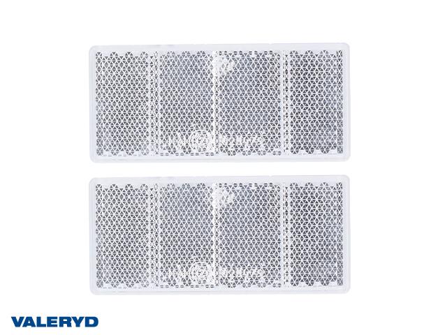 Rektangulär reflex 69x31,5 vit självhäftande (2-pack)