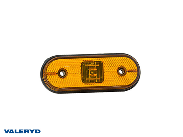 LED Sidomarkeringslykta Aspöck Unipoint I 119x44x18mm gul 24V med P&R 0,50m Kabel