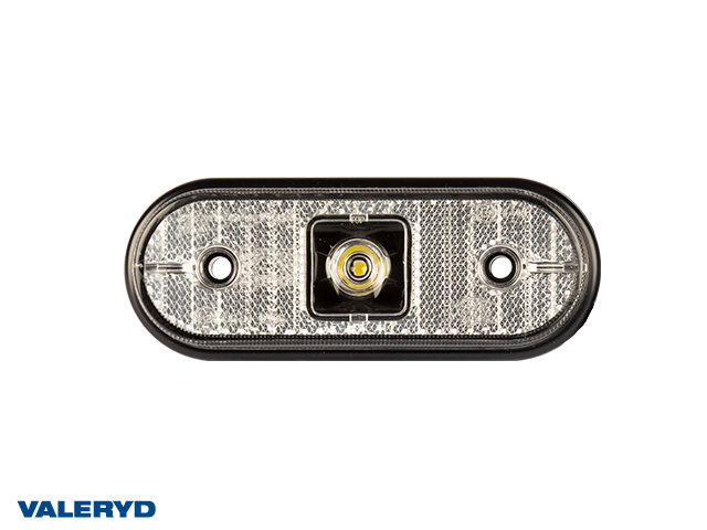 LED Sidomarkeringslykta Aspöck Unipoint I 119x44x18mm vit 24V med P&R 1,50m Kabel