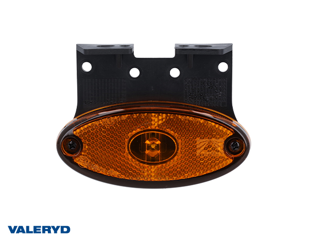 LED Sidomarkeringslykta Aspöck Flatpoint II 102x46x22mm gul 24V med P&R 1,50m Kabel
