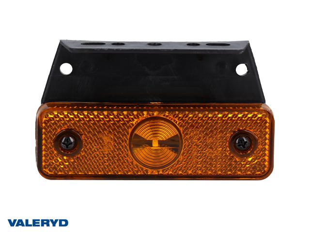LED Sidomarkeringslykta Aspöck Flatpoint I 99,5x74x55mm gul 24V med P&R 1,50m kabel