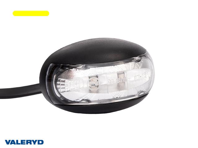 LED Sidomarkeringslykta Valeryd 60x32x35 gul 12-30V inkl. 450 mm kabel