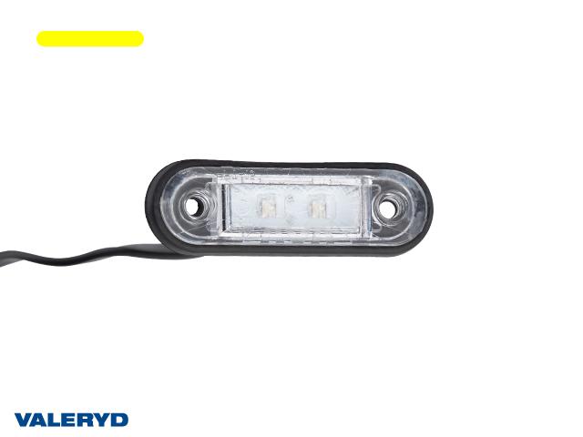LED Sidomarkeringslykta Valeryd 78x22x18 gul 12-30V inkl. 450 mm kabel