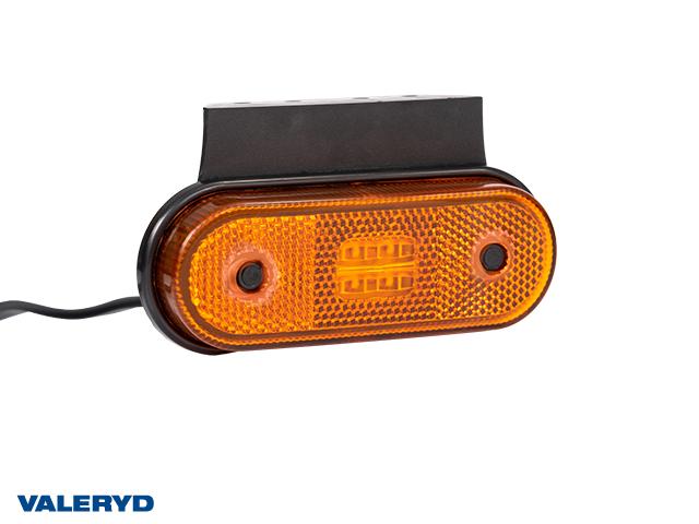 LED Sidomarkeringslykta Valeryd 120x67x18 gul 12-30V med reflex inkl. 450 mm kabel