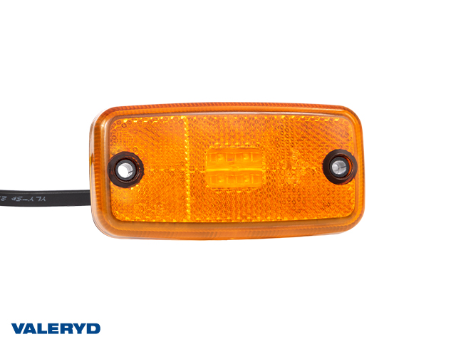 LED Sidomarkeringslykta Valeryd 110x54x16 gul 12-30V med reflex inkl. 450 mm kabel