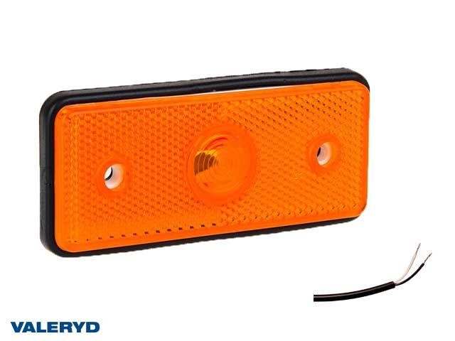 LED Sidomarkeringslykta Valeryd 110x45x17,5 gul 12-30V med reflex inkl. 450 mm kabel