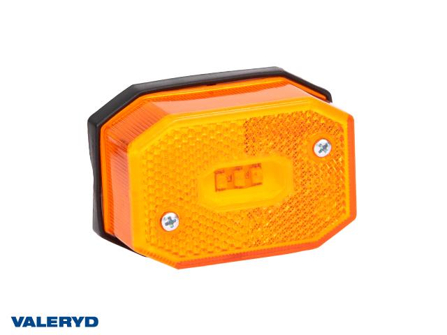 LED Sidomarkeringslykta Valeryd 65x42x30 gul 12-30V inkl. 450 mm kabel