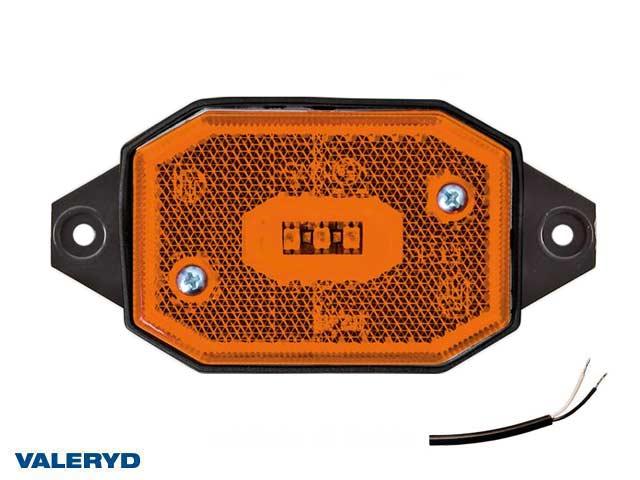 LED Sidomarkeringslykta Valeryd 65x42x30 gul med fäste CC=86mm, inkl. 450 mm kabel