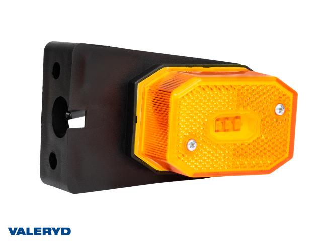 LED Sidomarkeringslykta Valeryd 64x42x28 gul med fäste CC=40mm, inkl. 450 mm kabel