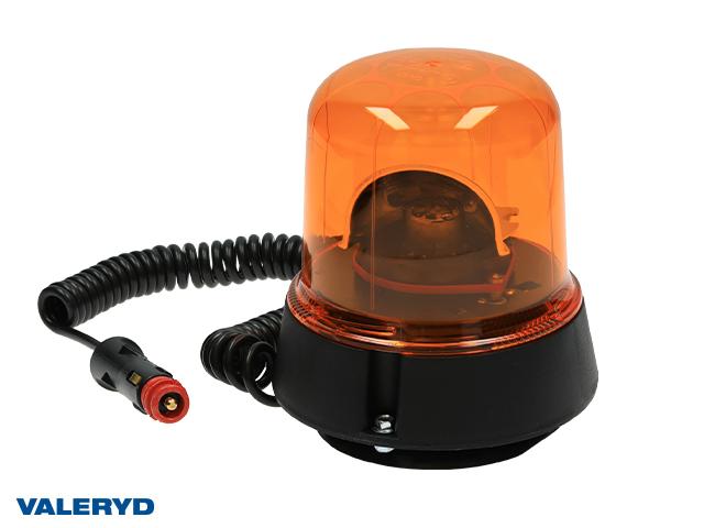 LED Roterande varningsljus 12/24V Kabel 2m med koppling för cigarettuttag. Magnetfäste