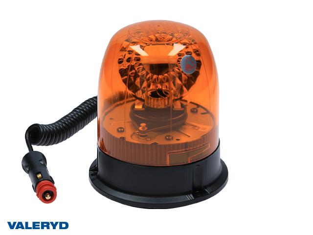 Roterande varningsljus 12/24V Kabel 2m med koppling för cigarettuttag. Magnetfäste