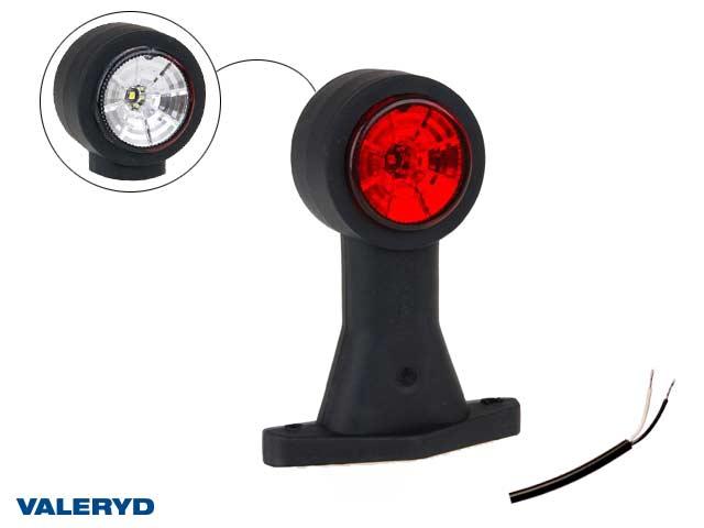 LED Breddmarkeringslykta Valeryd 130x118x45 vit/röd 12-30V inkl. 400 mm kabel, höger/vänster