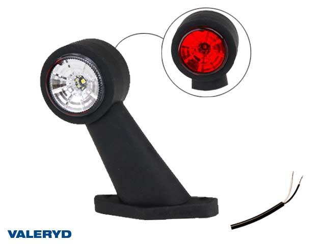 LED Breddmarkeringslykta Valeryd 133x118x45 vit/röd 12-30V inkl. 400 mm kabel, vänster
