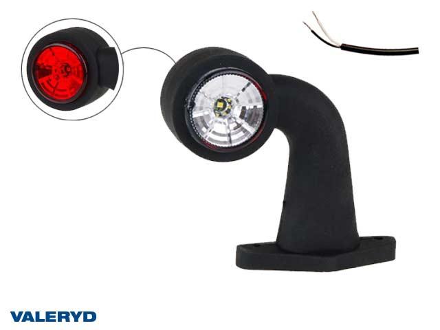 LED End outline marker Valeryd 130x150x45 white/red 12-30 V, incl. 400 mm cable , Left
