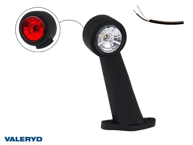 LED Breddmarkeringslykta Valeryd 175x150x45 vit/röd 12-30V inkl. 400 mm kabel, vänster