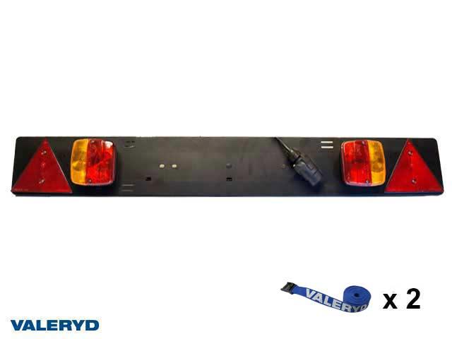 Ljusramp för cykelhållare Ajba 145x1050mm, 7-pol stickkontakt, 1,5m kabel