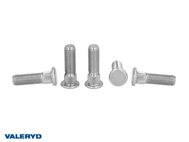 Wheel bolt M12x1.5 fits Hahn/BPW. Splines Ø17x8mm. Thread length 26mm. Tot. length 41.5mm (5 pack)