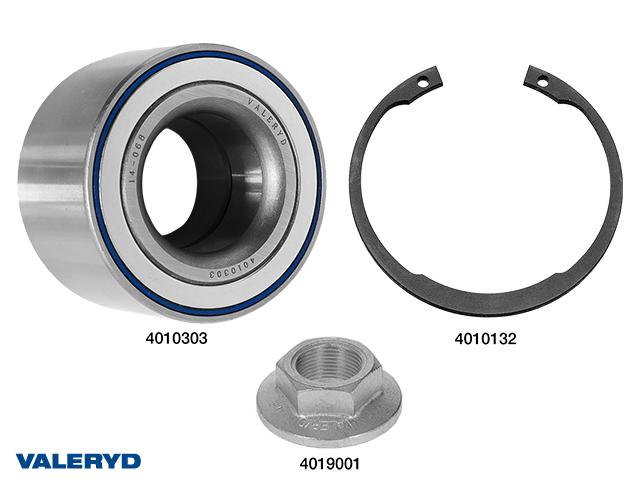 Hjullagersats compakt 30x60x37 vattenavvisande passar till AL-KO 1637, till 1 hjul