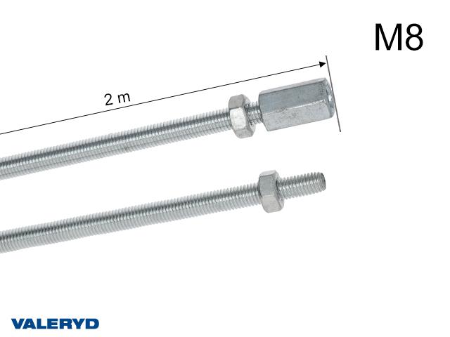 Bromsstång 2m (2x1m) M8