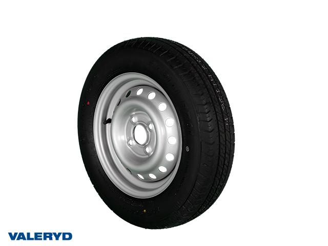 Hjul 145/80R13 Fälg 4.5x13 Bultcirkel 4x100 Centrumhål 57mm Offset +30 Silver Max 425 kg