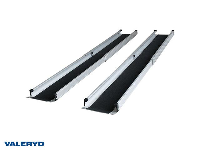 Lastramp aluminuim 1520x189mm, vikbar: 835mm, 272kg/par (2-pack)