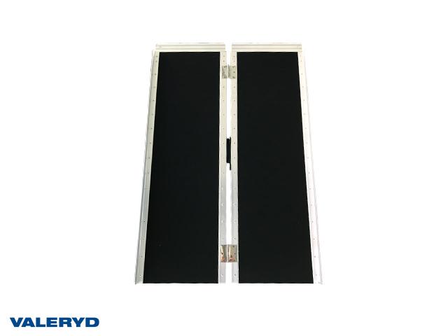 Lastramp aluminium 920x720x50mm, vikbar: 920x360x80mm, 272 kg