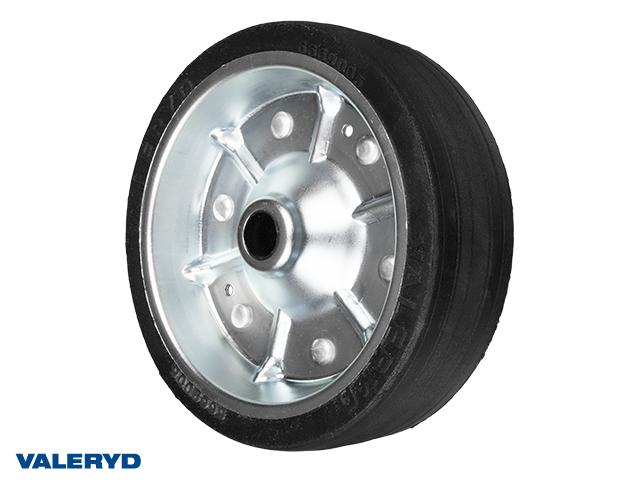 Replacement wheel for jockey wheel 200x60 mm Metal rim. Solid rubber wheel