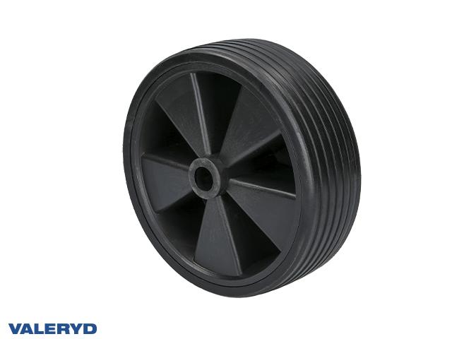 Replacement wheel for jockey wheel 215x70mmPlastic rim. Solid rubber wheel Ø20mm/90mm