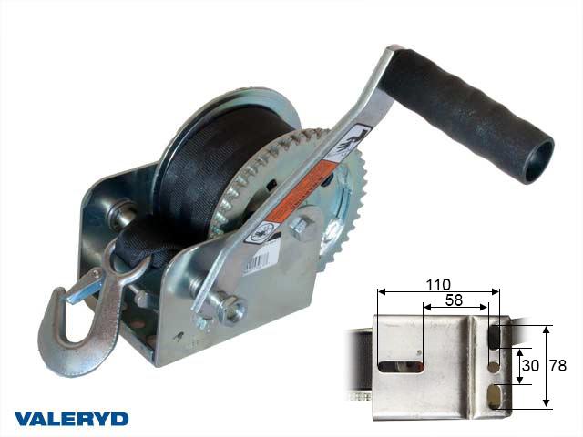 Vinsch DL-1100/499kg. Inklusive band 7,5