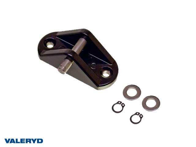Fäste med öron 8mm, 80x33mm, invändig bredd fäste = 18mm
