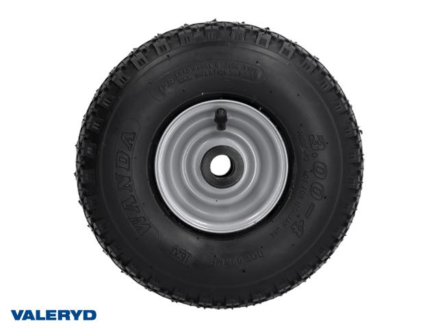 Pneumatic tyre Metal rim ; 4.10/3.50-4 (260x85 mm); 2 sliding bearing ; 20/88 mm; 200 kg